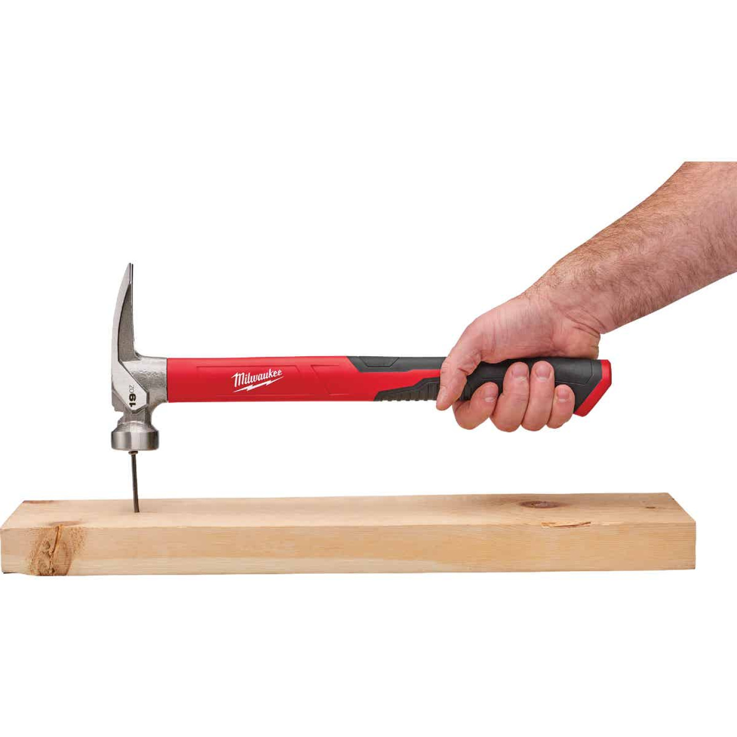 Milwaukee 19 Oz. Smooth-Face Framing Hammer with Poly/Fiberglass Handle Image 2