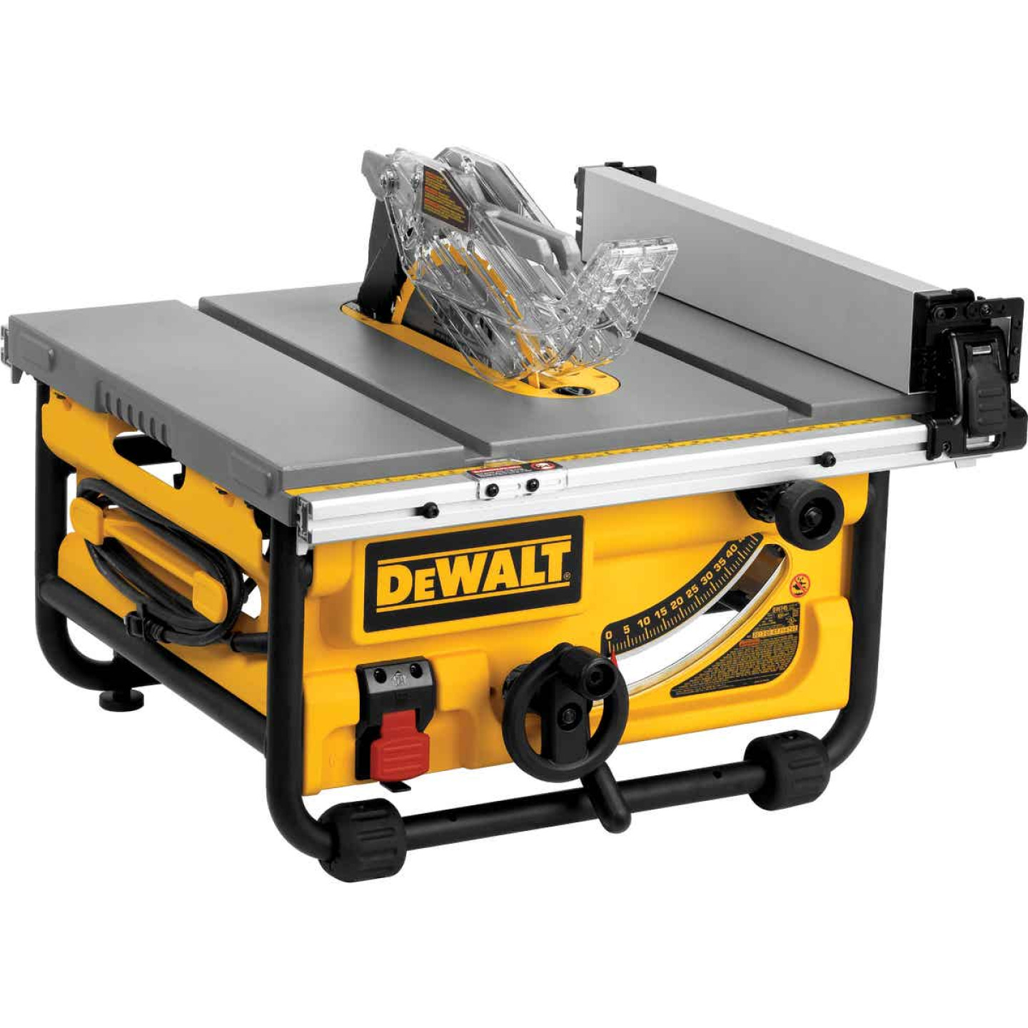 DeWalt 15A 8-1/4 In. Compact Job Site Table Saw w/Site-Pro Modular Guarding System Image 1