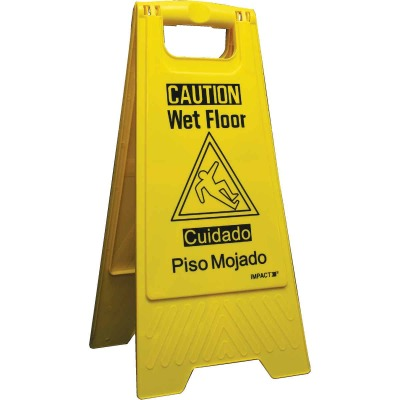 Impact Caution Wet Floor Sign
