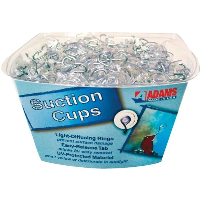 Adams Bulk Counter Display Of 1-1/8 In. 1 Lb. Holding Capacity Suction Cup with Hook